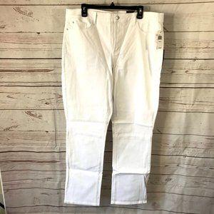 NYDJ Women's Marilyn Straight Leg Jeans Optic White #W77Z1077 Size 22W